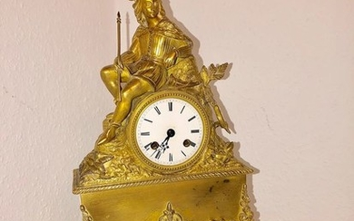 Mantel clock - Bronze (gilt/silvered/patinated/cold painted) - 19th century