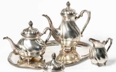 German .835 Silver Tea and Coffee Service
