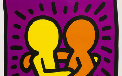 Keith Haring (1958-1990) (after) Untitled (Best Buddies)