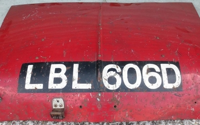 The original Bonnet from the (Works) Mini Cooper S rally car, Registration LBL 606D,