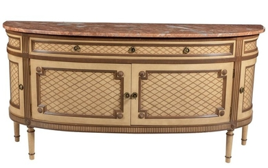 Trouvailles - French Style Marble Top Sideboard