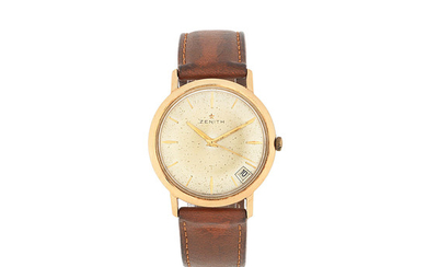 Zenith. An 18K rose gold manual wind wristwatch