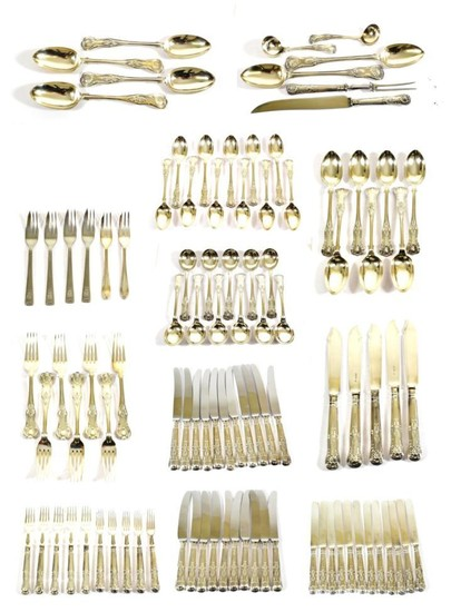 A Victorian and Later Silver Part Table-Service, various dates and...