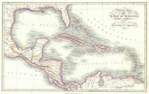 Lot-Art | Cross: Antique Map of the Gulf of Mexico, 1821