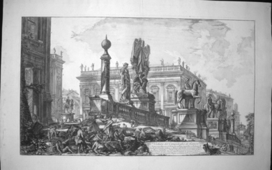 Piranesi, Giovanni: THE CAPITOL, SEEN FROM THE SIDE OF THE CENTRAL STEPS, Year 1757