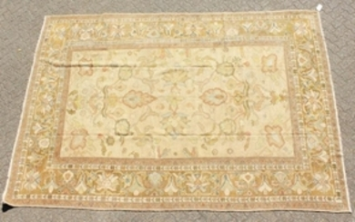 A FINE TURKISH SILK RUG with allover pattern of birds