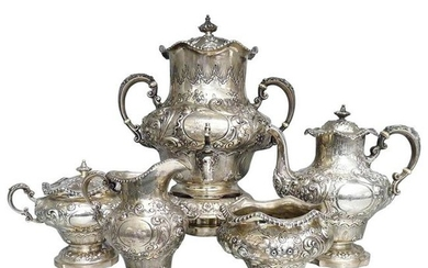 Antique Solid Silver Exceptional Tea and Coffee Set,