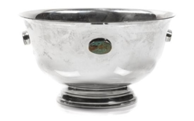 Silverplate and Turquoise Bowl