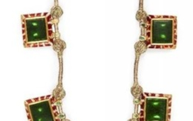 An early 20th century emerald set enamelled...