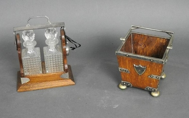 ANTIQUE TANTALUS AND BUCKET