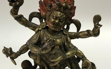 A Copper Alloy Figurine of Mahakala