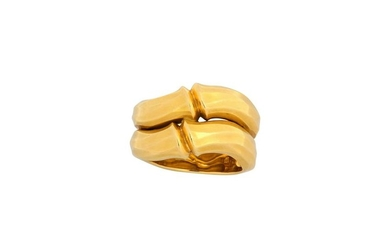 A gold 'Bamboo' ring, by Cartier