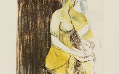 Henry Moore (1898-1986) Mother and Child XXVI (Cramer 696)