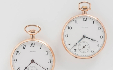 Two E. Howard Watch Co. Open-face Watches with Original Boxes