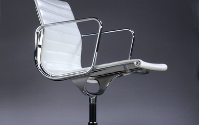 Charles Eames. Arm chair, model EA-108 white leather