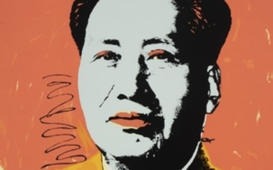 """1907/952: Andy Warhol, after: """"Mao"""". Stamped on the reverse """"fill in your own signature"""". Silkscreen in colours. Sheet size 91 x 91 cm. Unframed."""