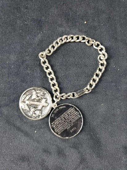 Bracelet with Cross Locket and Lord's Prayer Inside