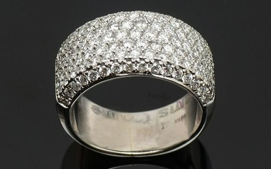 14K PAVE SET 2.25 CTW DIAMOND RING