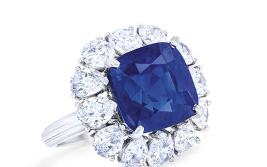 IMPORTANT SAPPHIRE AND DIAMOND RING, CARTIER,