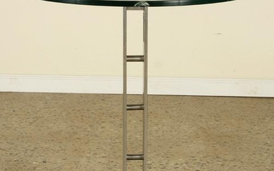 MODERN STEEL & GLASS OCCASIONAL TABLE