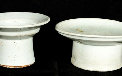 Song Ding Ware Footed Plate and Brush Washer
