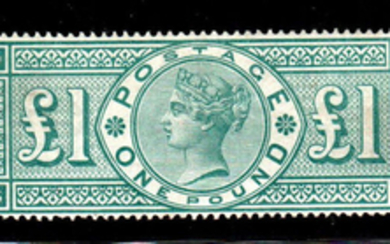 Great Britain 1887 - 1£ green - Stanley Gibbons N. 212