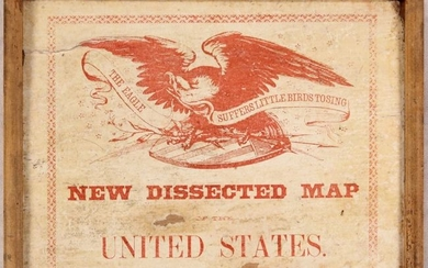 """An Early American Puzzle Map, """"New Dissected Map of the United States"""""""