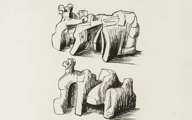 Henry Moore (1898-1986) Two Rock Reclining Figures (Cramer 102)