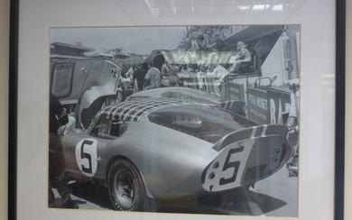 Nine assorted motorsport photoprints,