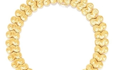 VINTAGE GOLD NECKLACE, LALAOUNIS, CIRCA 1960 in 18ct