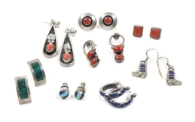Eight Pairs of Southwestern Earrings
