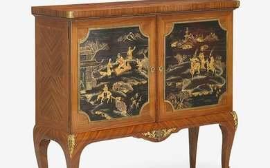 TRANSITIONAL LOUIS XV/XVI STYLE TULIPWOOD & LACQUER