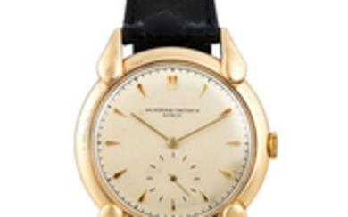 Vacheron Constantin. A Fine and Rare Oversized Yellow Gold Wristwatch
