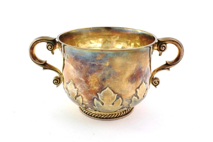 A Victorian Silver Porringer, by Gibson and Langman, London, 1898,...
