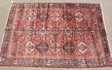 A VERY LARGE PERSIAN MAHAL CARPET. 15ft x 10ft 6ins.