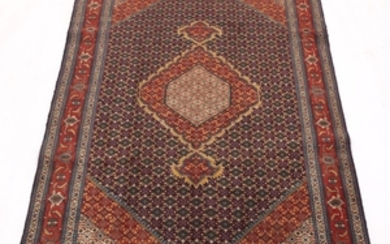 Semi-Antique Hand-Knotted Tabriz Silk and Wool Carpet