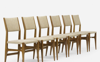 Gio Ponti, dining chairs model 116, set of six