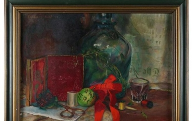 Oil on Canvas Still Life Painting by Furman J Finick