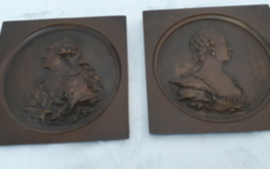 PR. OF FRENCH BRONZE INSCRIBED PLAQUES