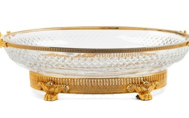 A French Gilt Bronze and Cut Glass Center Bowl