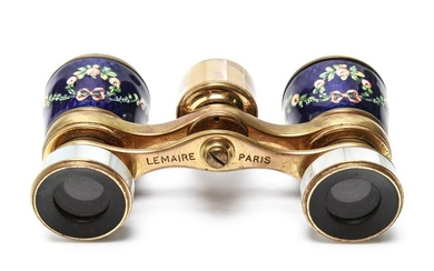 French Lemaire Enamel & MOP Opera Glasses
