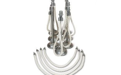 Set of Metal Stanchions