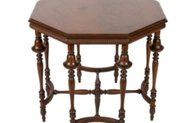 Walnut Octagonal Center Table