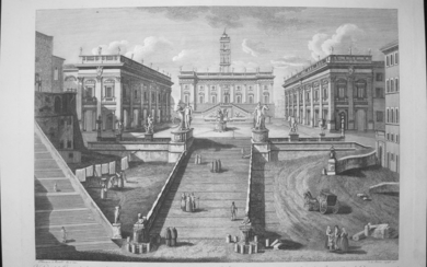 Morelli, Francesco: FRONT VIEW OF THE CAPITOL IN ROME, Year 1796