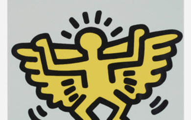 Keith Haring, Plate 4 (from Icons portfolio)