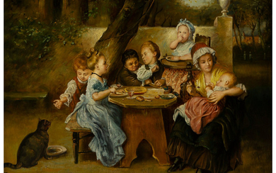 Continental School (19th Century), The Children's Table