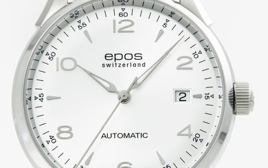 Epos - Stainless steel Men's Automatic watch - 3427/F-SLV/ARAB - Men - 2011-present