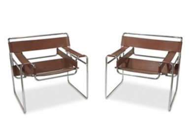 A pair of Wassily style chairs after a design...