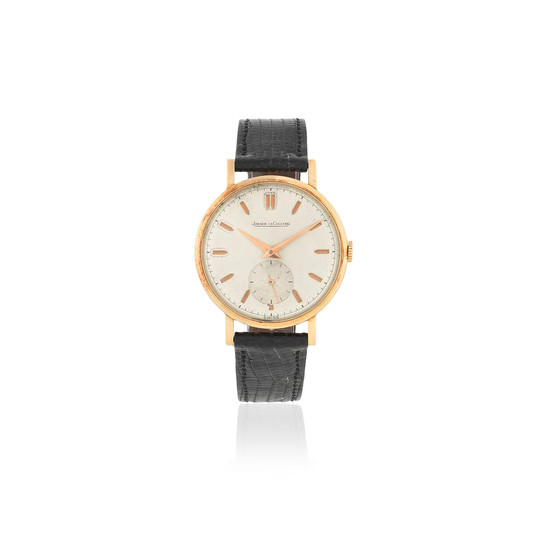 Jaeger-LeCoultre. An 18K rose gold manual wind wristwatch