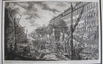 Piranesi, Giovanni: THE HARBOUR AND QUAY, CALLED THE RIPA GRANDE. Year 1753